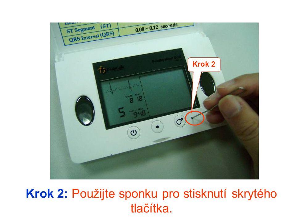 Krok 1: Stiskněte pravé tlačítko pro změnu měsíce.