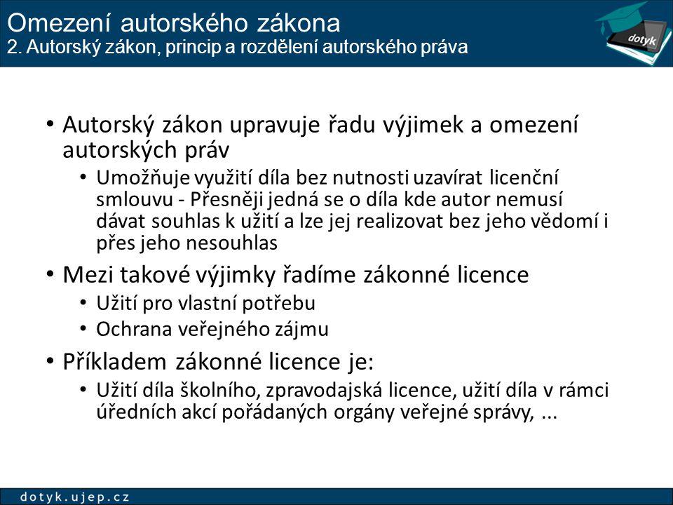 Omezení autorského zákona 2.