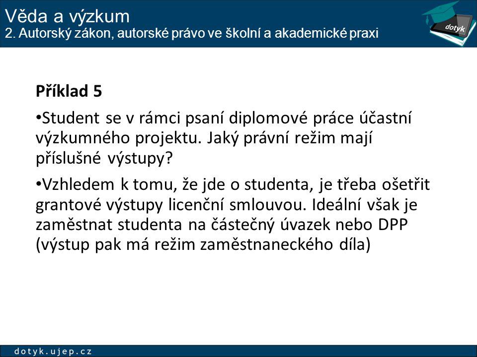 Příklad publikační činnosti - veřejná licence 2.