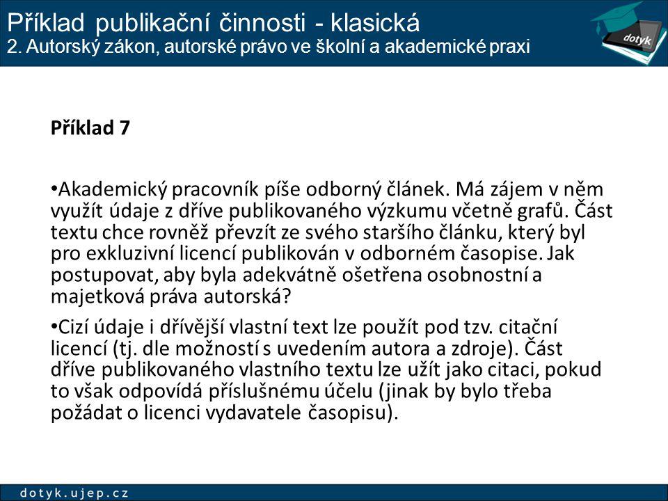 Příklad publikační činnosti - klasická - 2 2.
