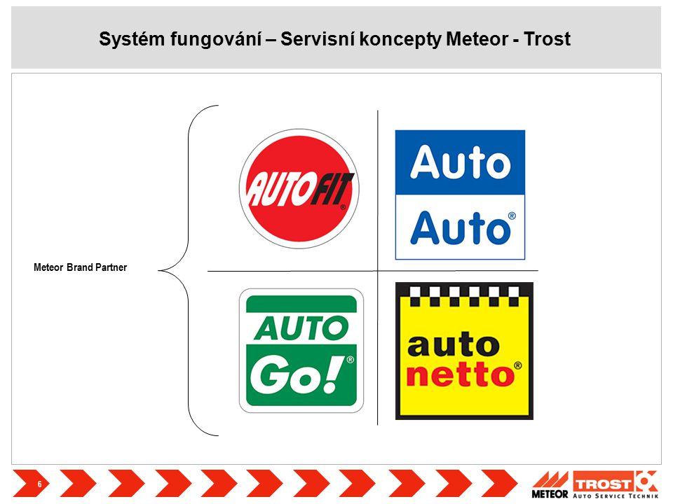 7 Myšlenka v pozadí naší strategie servisních konceptů je velmi jednoduchá: 'METEOR Partner System' podporuje svými konceptovými moduly 'technickým', 'organizačním' a 'komunikačním' všechny důležité klíčové faktory úspěchu našich zákazníků z řad servisů.