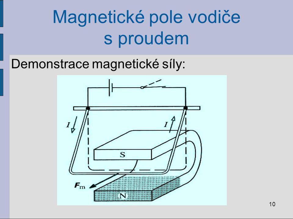 Stacionární magnetické pole Magnetická indukce B: vektorová veličina vektor magnetické indukce leží v tečně k indukční čáře v daném místě magnetického pole a jeho směr odpovídá orientaci indukční čáry Platí: jednotkou B je tesla, značka T, 11