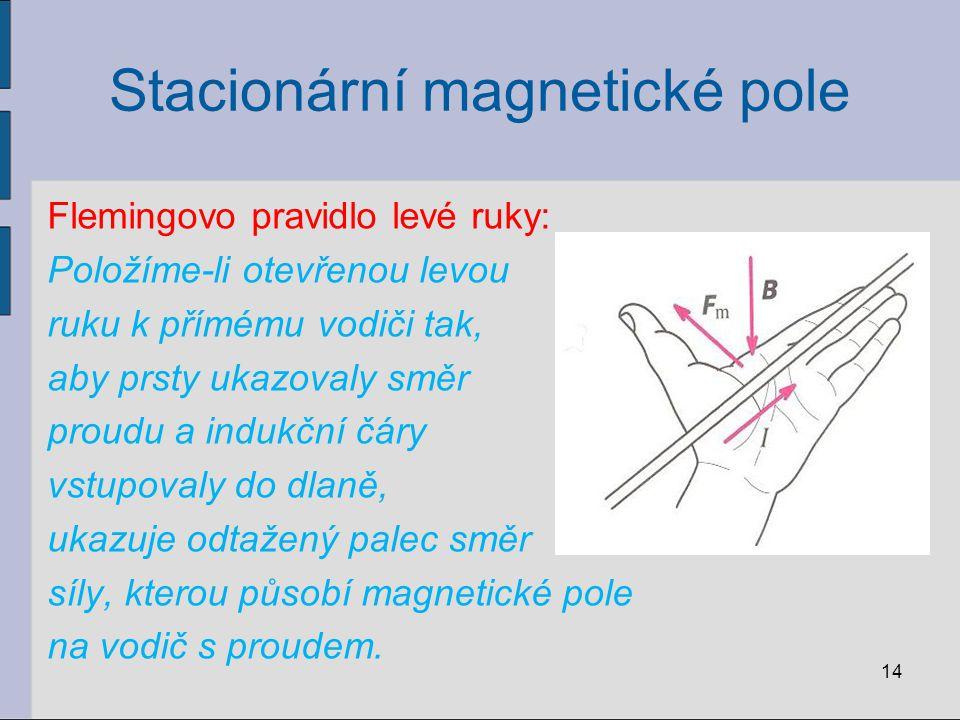 Příklad: V homogenním magnetickém poli o magnetické indukci 0,8 T je umístěn přímý vodič, kterým prochází proud 2 A.