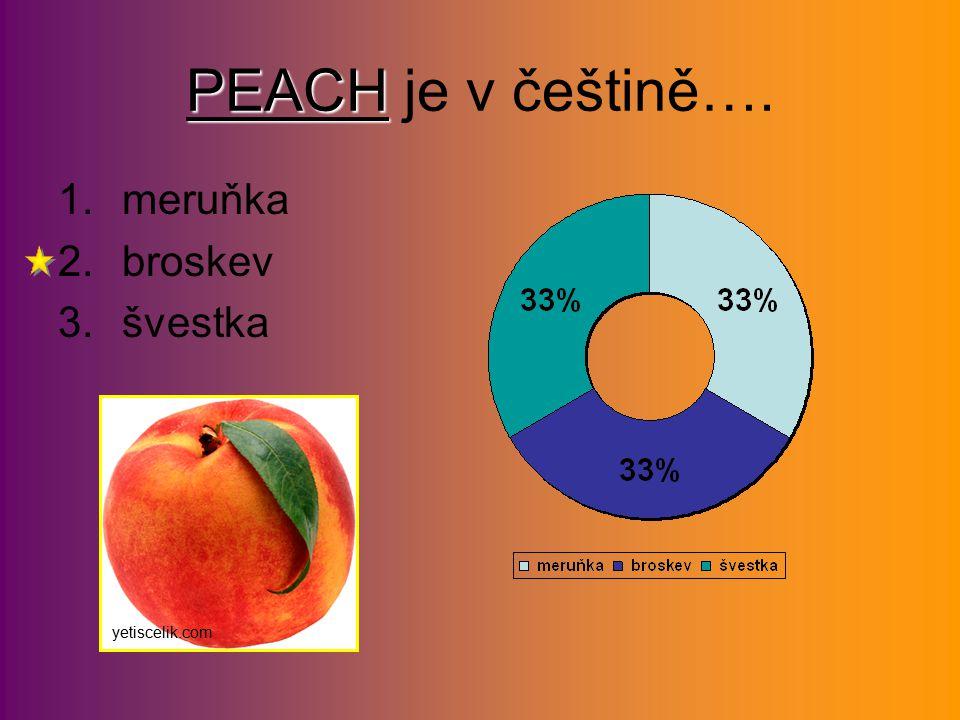 PEACH PEACH je v češtině…. 1.meruňka 2.broskev 3.švestka yetiscelik.com