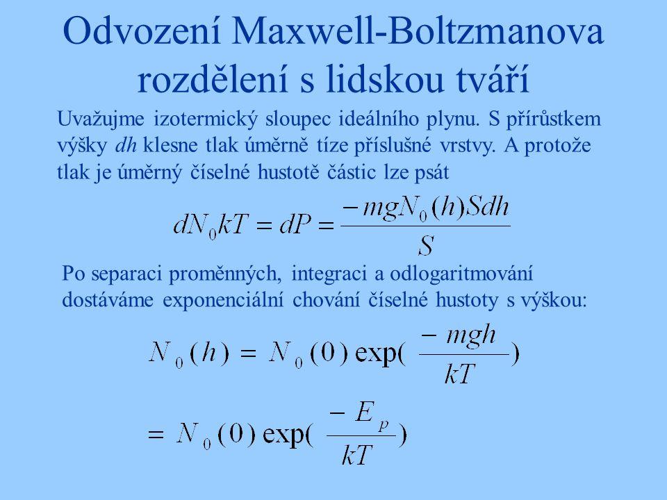 Odvození II … Ze zákona zachování energie se částice dostane do výšky h, má-li v nulové výšce dostatečnou rychlost.