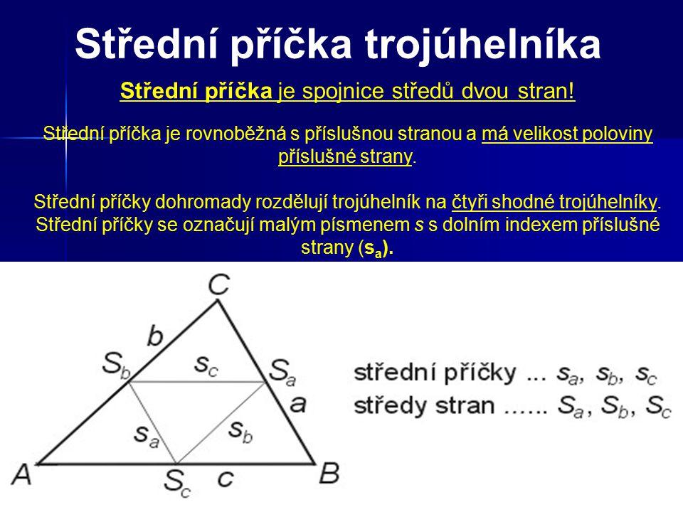 Jak sestrojit střední příčky v trojúhelníku.1.Sestroj trojúhelník ABC 2.