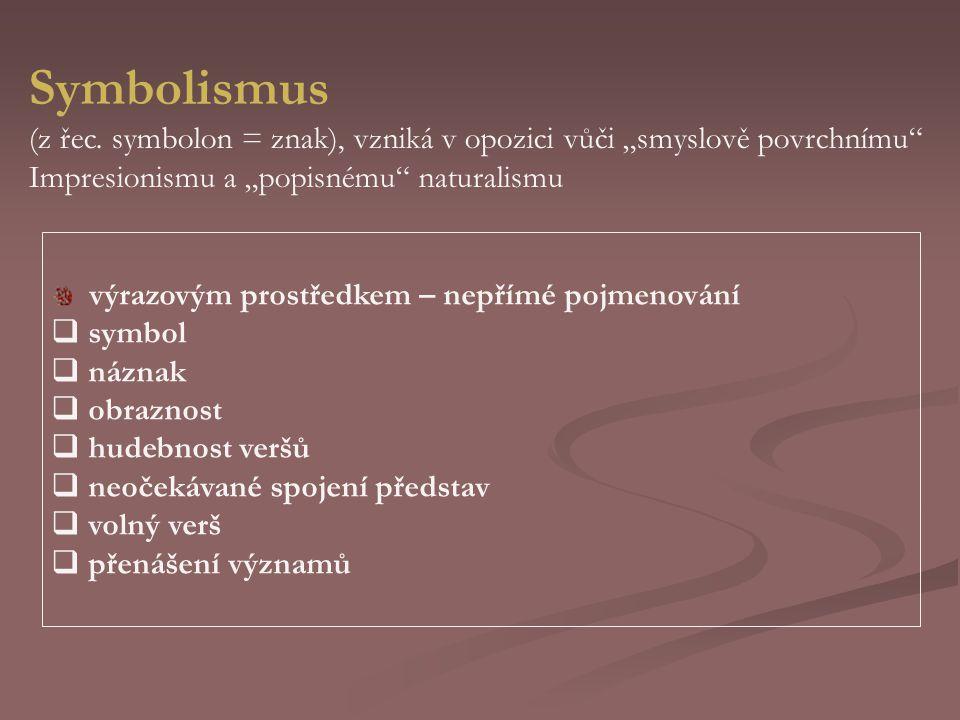 Symbolismus (z řec.