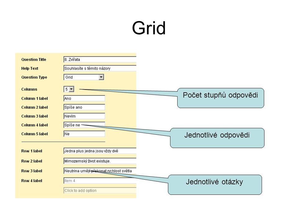 Zpřístupnění formuláře 1.Emailem tlačítko vpravo nahoře: Email this form 2.Pomocí odkazu, který lze umístit na web, na diskusní fórum, do chatu tlačítko vpravo nahoře: More actions, varianta Embed Adresa je uvnitř prvku iframe, lze získat jen samotnou adresu Ukázkový formulář jsem zpřístupnil na: –https://docs.google.com/spreadsheet/embeddedfor m?formkey=dGo4R2hfMW9SYlZGY240RTRSWUZ xbHc6MQhttps://docs.google.com/spreadsheet/embeddedfor m?formkey=dGo4R2hfMW9SYlZGY240RTRSWUZ xbHc6MQ