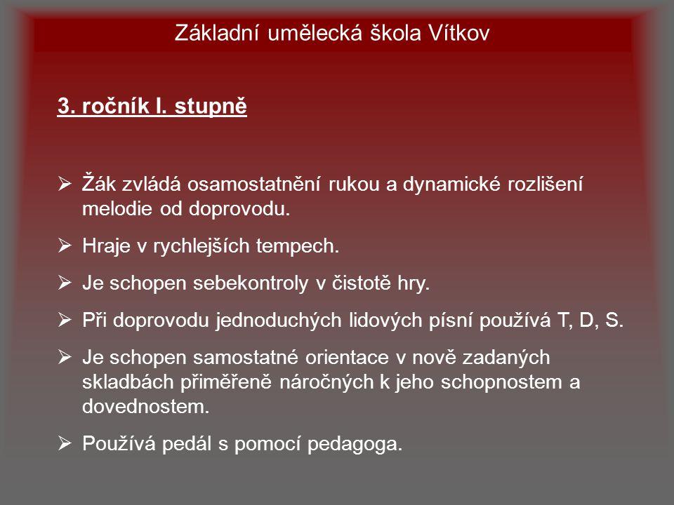 Základní umělecká škola Vítkov 3.ročník I.