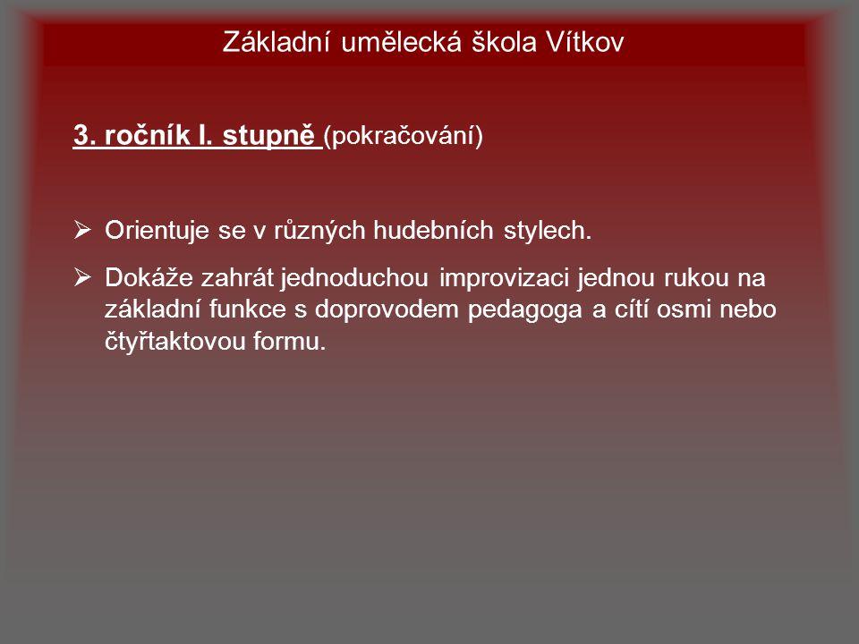 Základní umělecká škola Vítkov 4.ročník I.