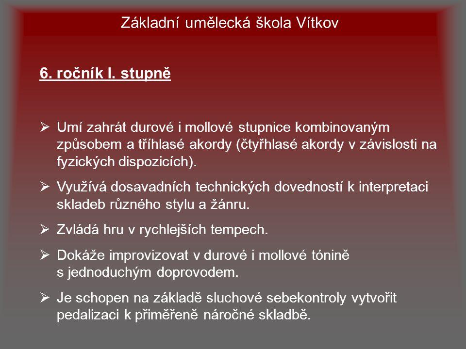 Základní umělecká škola Vítkov 7.ročník I.