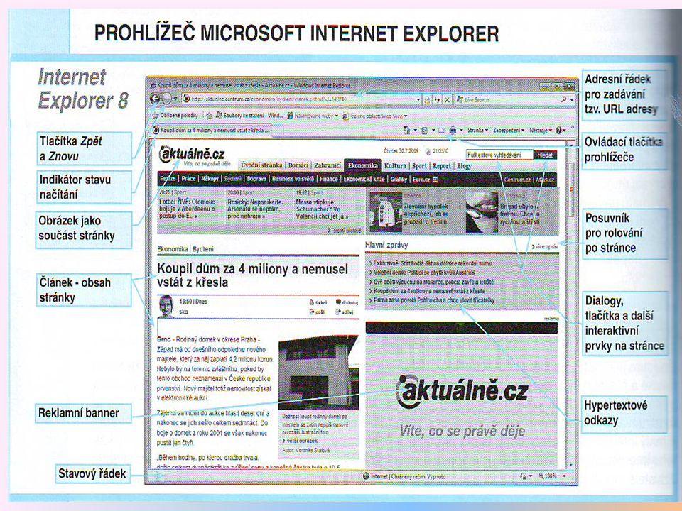 11 Prohlížeč internet Explorer – Prohlížení stránky K načtení stránky je potřeba určitý čas.
