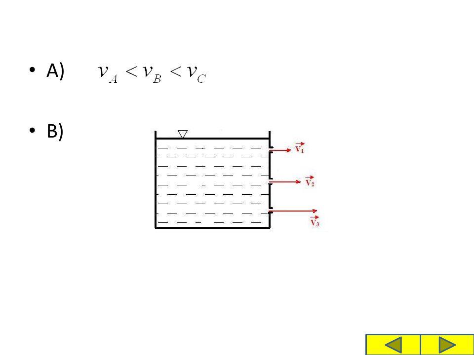 Řešte příklad: A) V jaké výšce by musel být otvor, aby kapalina vytékala rychlostí 2,5 m.s -1, jeli výška nádoby 0,62 m.