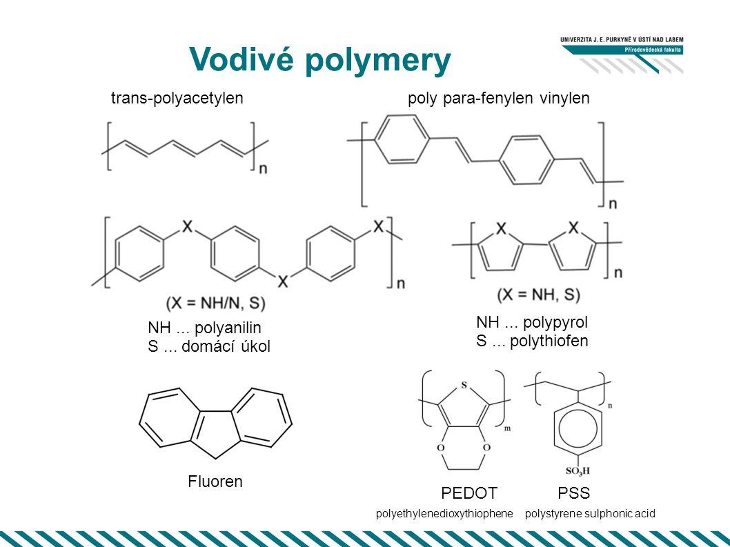 """Vodivé polymery některé aplikace http://en.wikipedia.org/wiki/Light-emitting_diode """"klasická LED"""