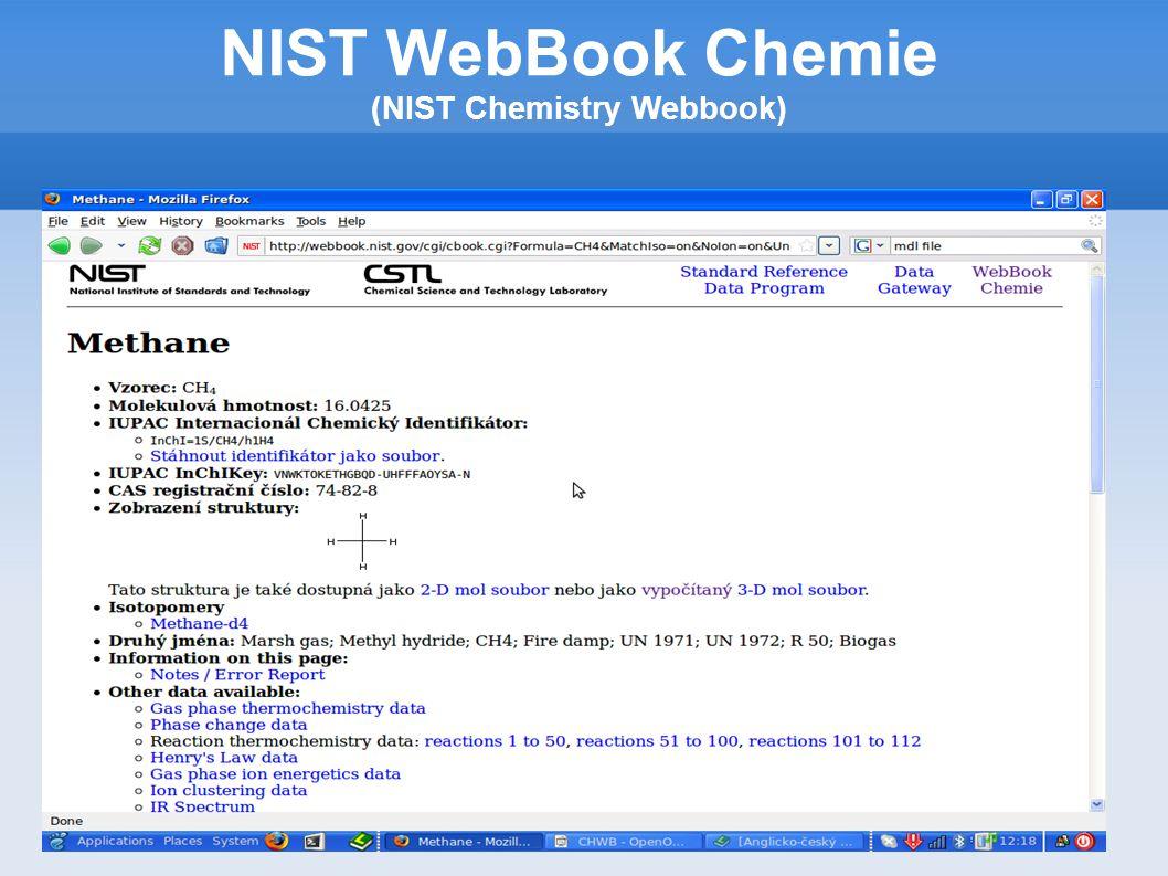 Vyhledávání podle struktury Vytvoření struktury Vložení souboru se strukturou Nutný formát MDL NIST WebBook Chemie (NIST Chemistry Webbook) benzene ACD/Labs0812062058 6 6 0 0 0 0 0 0 0 0 1 V2000 1.9050 -0.7932 0.0000 C 0 0 0 0 0 0 0 0 0 0 0 0 1.9050 -2.1232 0.0000 C 0 0 0 0 0 0 0 0 0 0 0 0 0.7531 -0.1282 0.0000 C 0 0 0 0 0 0 0 0 0 0 0 0 0.7531 -2.7882 0.0000 C 0 0 0 0 0 0 0 0 0 0 0 0 -0.3987 -0.7932 0.0000 C 0 0 0 0 0 0 0 0 0 0 0 0 -0.3987 -2.1232 0.0000 C 0 0 0 0 0 0 0 0 0 0 0 0 2 1 1 0 0 0 0 3 1 2 0 0 0 0 4 2 2 0 0 0 0 5 3 1 0 0 0 0 6 4 1 0 0 0 0 6 5 2 0 0 0 0 M END $$$$