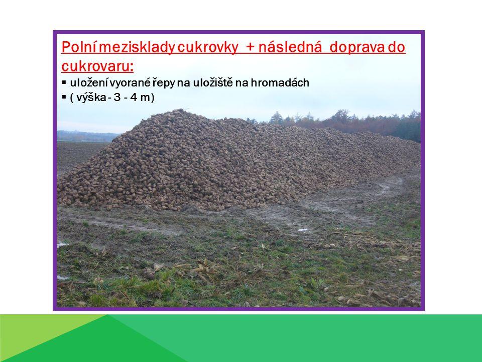 Největší cukrovar v ČR v Dobrovici, doba řepné kampaně: září - leden