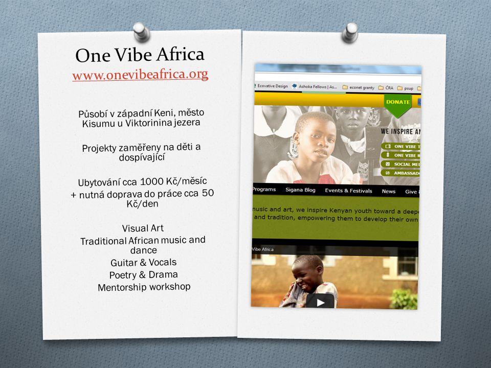 Wayo Wayo Africa http://wayowayoafrica.wo rdpress.com/ Organizace sídlí v Nairobi a pracuje s d ě tmi ze slumu Kibera Ubytování cca 230 K č /noc Traditional & Modern Dance Video Movie Project Music Project School Fee Project