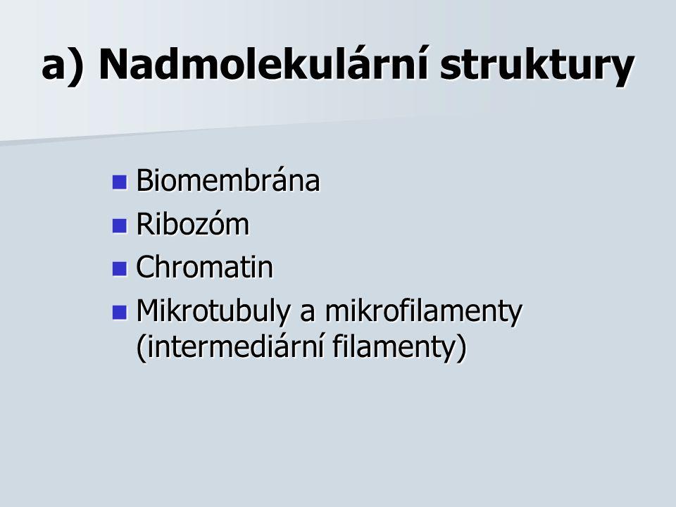 Biomembrána z lipidů (fosfolipidů, cholesterolu,...) z lipidů (fosfolipidů, cholesterolu,...) a bílkovin lipidy vytváří dvojvrstvu (jejich molekuly nastaveny hydrofilním koncem ven a hydrofobním dovnitř membrány) lipidy vytváří dvojvrstvu (jejich molekuly nastaveny hydrofilním koncem ven a hydrofobním dovnitř membrány) do dvojvrstvy lipidů jsou zanořeny integrální bílkoviny do dvojvrstvy lipidů jsou zanořeny integrální bílkoviny na povrchu jsou asociované proteiny a oligosacharidy na povrchu jsou asociované proteiny a oligosacharidy