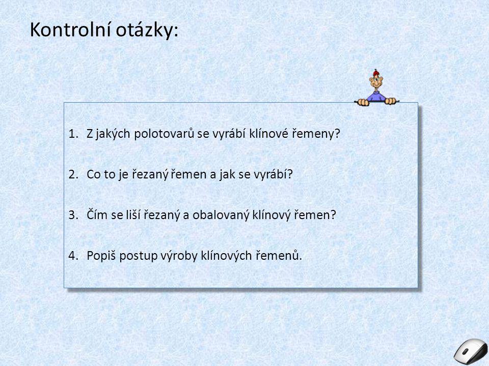 Seznam obrázků: Obr.1: Klínové řemeny pryž. In: Uzimex [online].