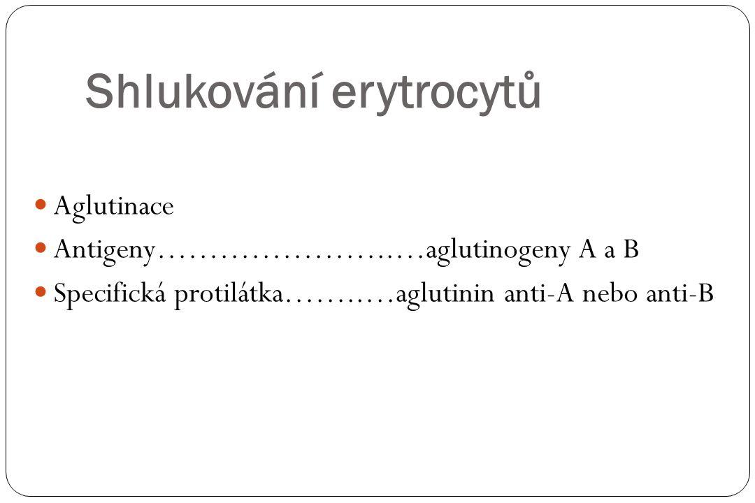 Krevní skupiny Ozna č ení krevní skupiny Obsahuje aglutinogen Obsahuje aglutinin (v krevní plazm ě ) Skupina AAanti-B Skupina BBAnti-A Skupina ABA a B- Skupina OAnti-A a anti-B