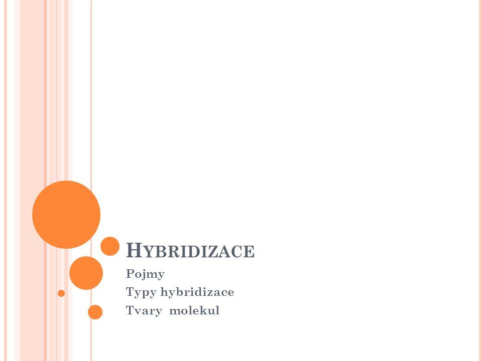 HYBRIDIZACE = sjednocování atom.