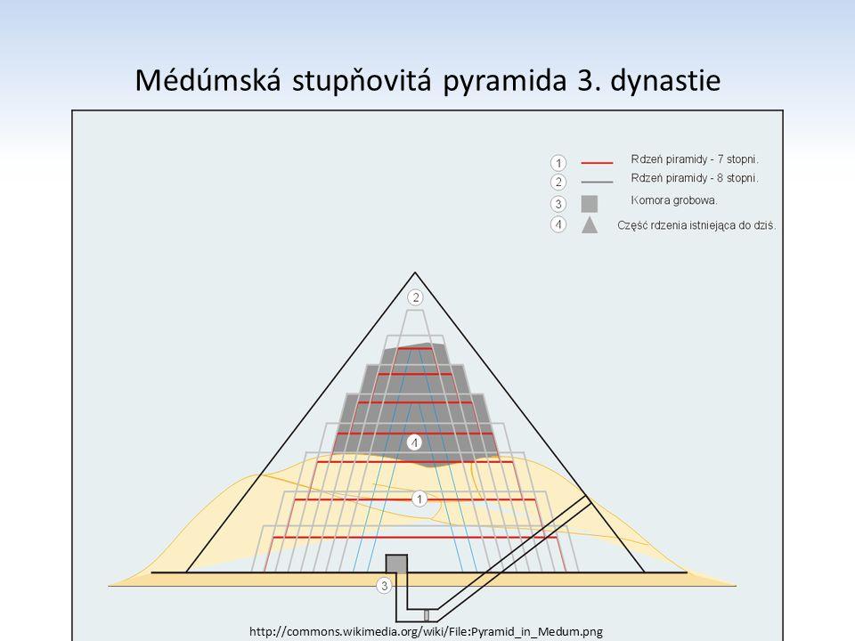 Pyramidy v Gíze Cheopsova (Chufewova) pyramida – největší – výška 146 m (230 x 230) – v sousedství se nachází sfinga Menkaureova a Chafreova pyramida stojí po stranách Cheopsovi pyramidy