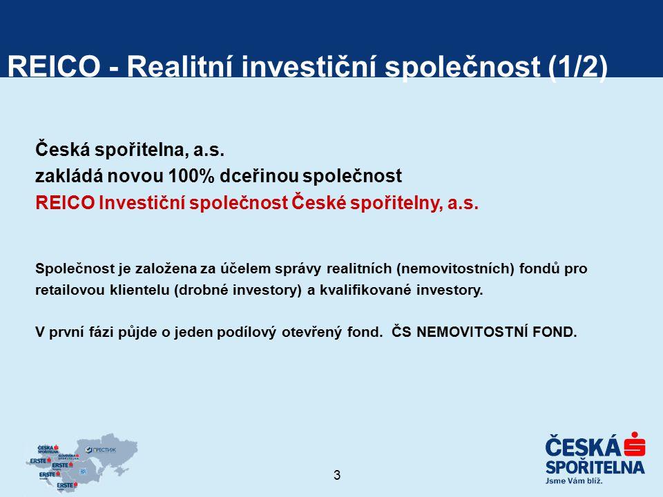 4 REICO - Realitní investiční společnost (2/2) Fond bude založen a spravován podle novely zákona o kolektivním investování (ZKI) – regulován ČNB stejně jako stávající podílové fondy Fond bude primárně investovat do nemovitostí (min.
