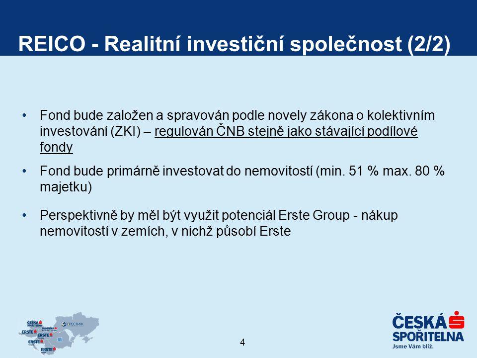 5 Realitní fond (RF) (1/2) Základní charakteristika RF Fondy jsou subjekty, které vlastní a spravují portfolio nemovitostí za účelem dlouhodobého a stabilního dosahování zisků / zhodnocování majetku Fondy podléhají dozoru ČNB.