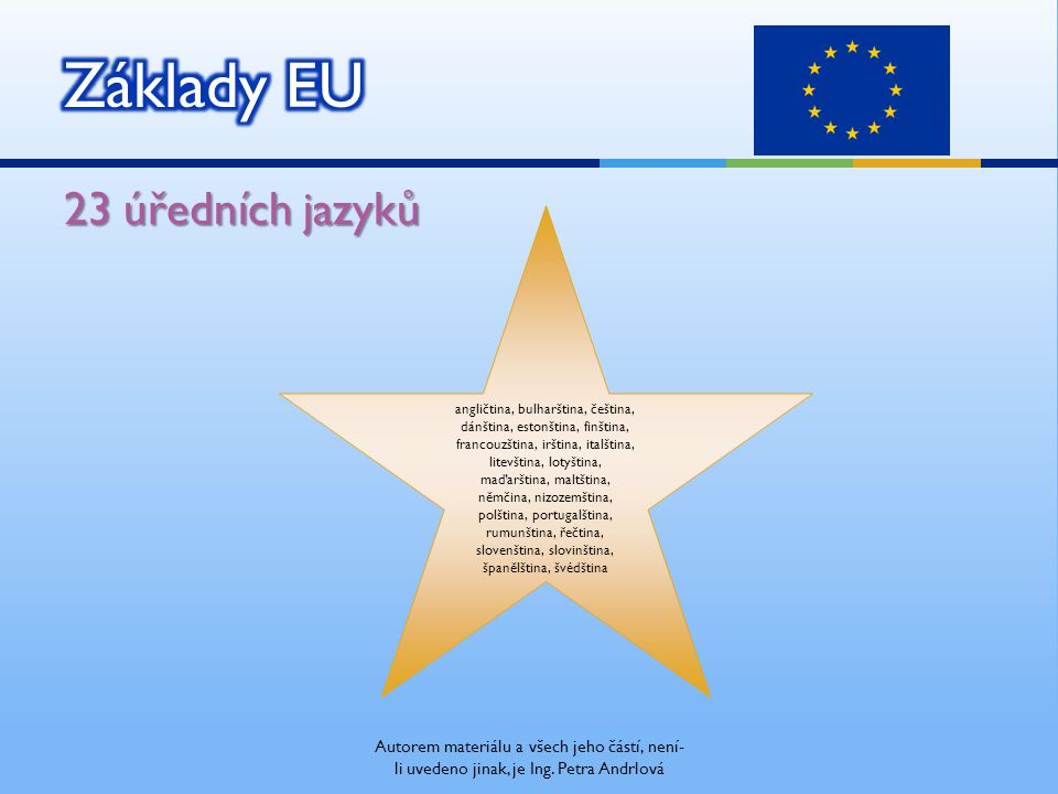 Demokratická spolupráce států EU Autorem materiálu a všech jeho částí, není- li uvedeno jinak, je Ing.
