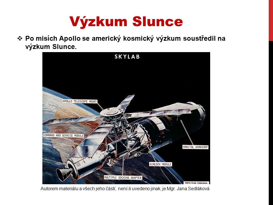  Vytvořili proto první kosmickou stanici SKYLAB = nebeskou laboratoř.