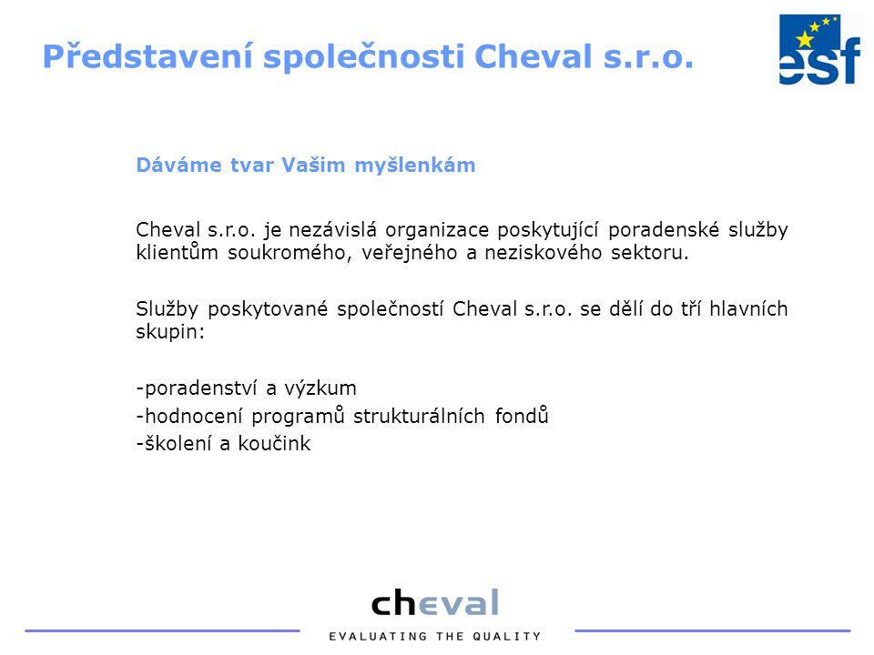Dáváme tvar Vašim myšlenkám Společnost Cheval s.r.o.