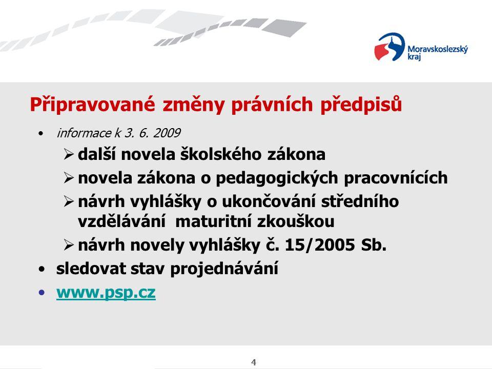 5 Organizačně právní informace kurzy k doplnění základního vzdělání:  ZŠ, Gebauerova 8, 702 00 Ostrava, ředitelka Mgr.