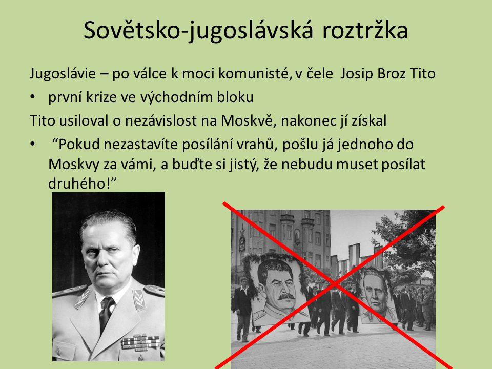 Po hospodářském sjednocení východního bloku následuje vojenské sjednocení 1955 – Varšavská smlouva