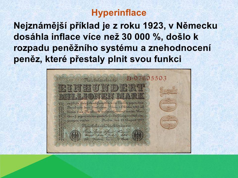 Kontrolní otázky: Co je to inflace.Co znamená výraz cenová hladina.