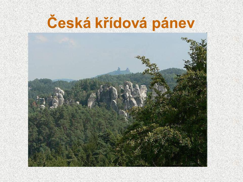 Česká křídová pánev (tabule) vznik v období křídy usazené horniny (písky, pískovce, opuky, jílovce) ve velkých hloubkách zásoby kvalitní podzemní vody