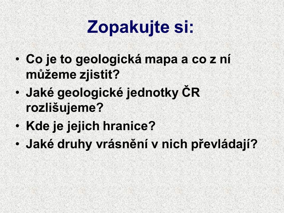 Geologické jednotky ČR Český masiv Západní Karpaty