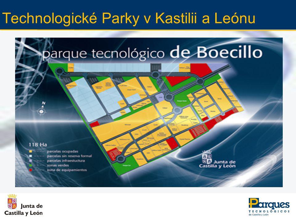 Současná situace v Technologickém Parku v Leónu Rozloha: 32 hektarů 7 firem (v příštích 2 měsících se předpokládá nárůst na 25 firem).