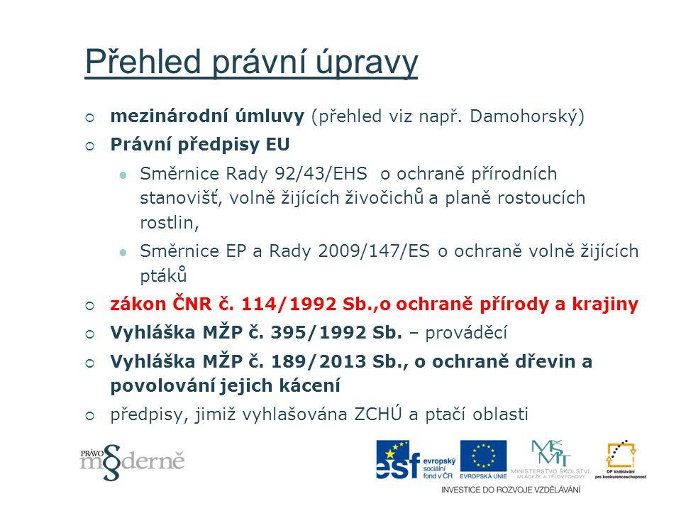 Nástroje ochrany přírody  Institucionální  Administrativní  Ekonomické + náhrada za omezení práv  Koncepční  Informační