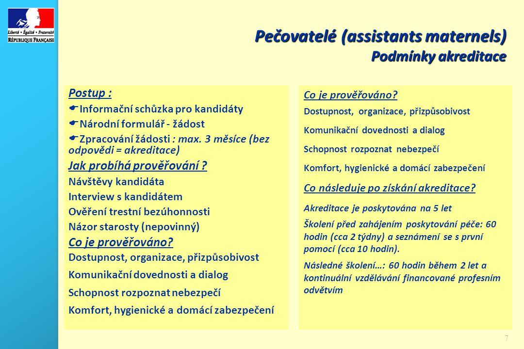 8 Podmínky akreditace a zaměstnávání Co se děje během profesionální praxe.