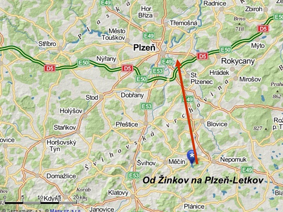Od Žinkov na Plzeň-Letkov