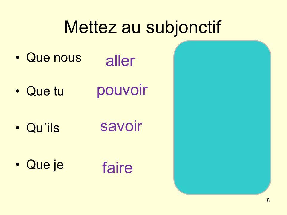 6 Il faut que + subjonctif Je třeba, abys jí napsal dopis dnes večer.