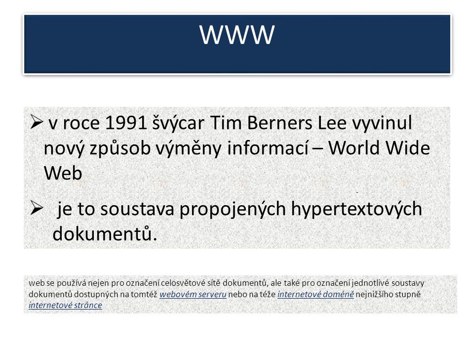  první web server Tima Bernerse-LeeTima Bernerse-Lee - vynálezce webu