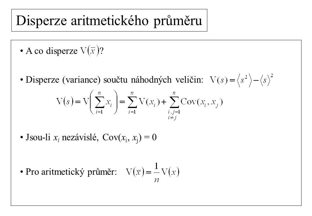 Centrální limitní věta Náhodná veličina x je popsána rozdělením pravděpodobnosti p(x).