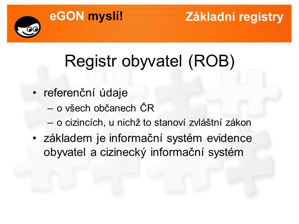 Využití registru obyvatel občané nebudou muset na úřadech opakovaně dokládat stejné údaje v registru budou vedeny aktuální referenční údaje o fyzických osobách historie referenčních údajů bude vedena ve stávajících informačních systémech bez zákonného důvodu nelze údaje z registru využívat