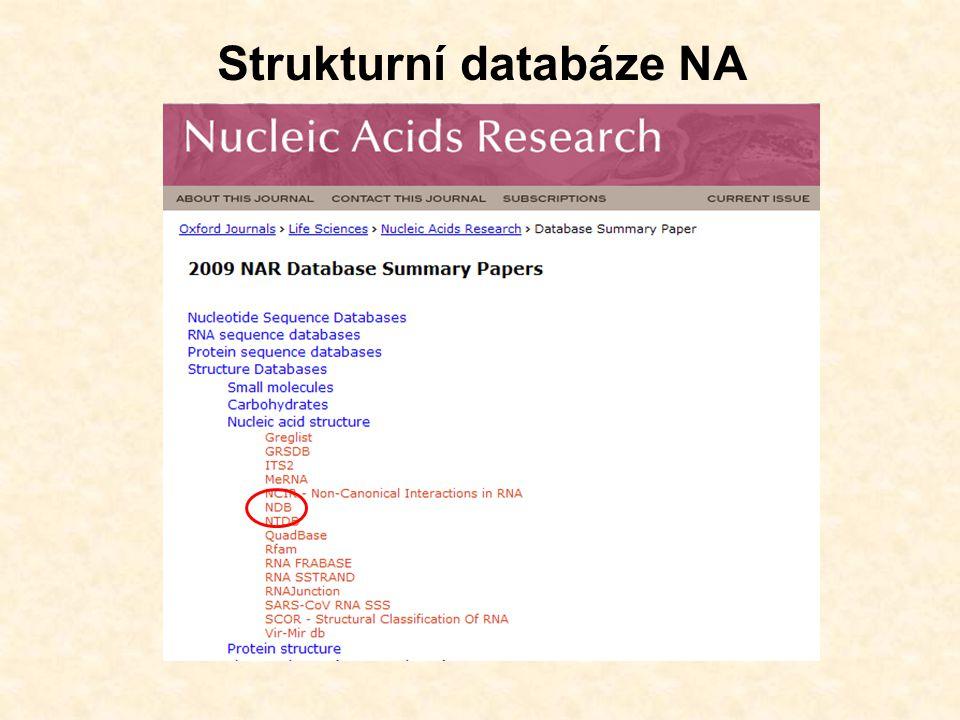 NDB - Nucleic Acid Database http://ndbserver.rutgers.edu/