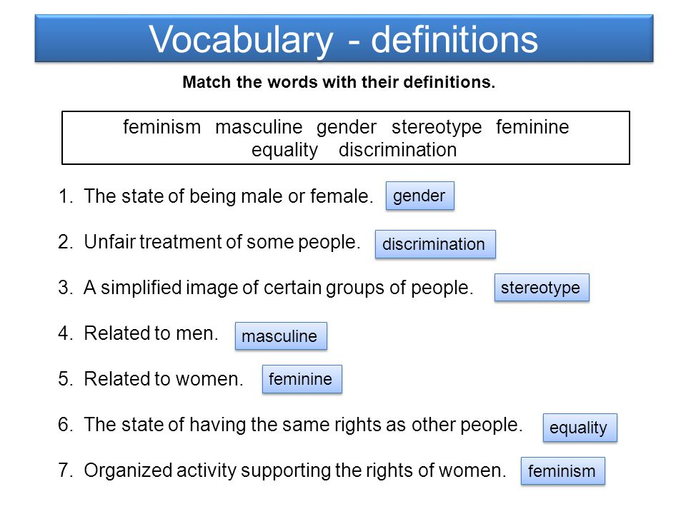 Feminine and masculine words What is the feminine of these words.