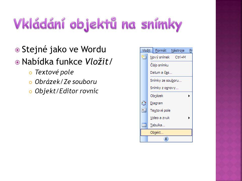  Nabídka funkce Zobrazit/ Normální