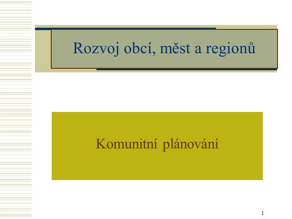 2 Vymezení termínu  Metoda posilující principy participativní demokracie v obci a kraji  Technický nástroj – jak integrovat veřejnost do rozhodování  Vypracovávání rozvojových materiálů v různých oblastech veřejného života  Důraz metody: - Zapojení všech kterých se opatření týkají -Dialog a vyjednávání -Opatření podporované většinou účastníků