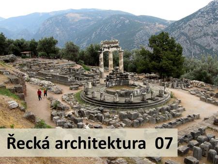 Řecká architektura chrámy