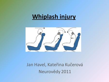 Whiplash injury Jan Havel, Kateřina Kučerová Neurovědy 2011.